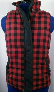 MADEWELL Buffalo Plaid Faux Shearling Vest XS